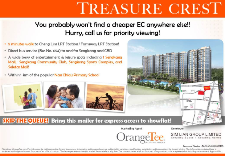 Treasure Crest EC - cheapest EC in town