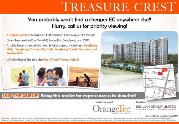 Treasure Crest EC - cheapest EC in town