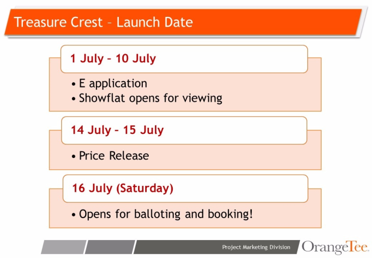 Treasure Crest EC - e-application starts from July 1