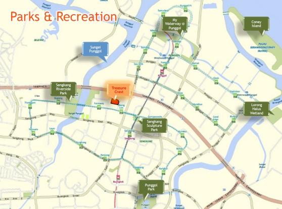 Parks and recreation near Treasure Crest EC
