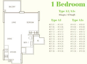 Hillion Residences - 1 Bedroom 474 sqft