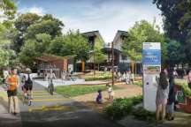discovery_point_in_neighbourhood_centre_with_heritage_board_landscaping_seating_and_cycling_facilities